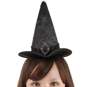 Mini Lace Witch Hat Black