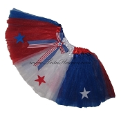SHORT 4th of July Americana Tutu with Bow
