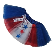 SHORT 4th of July Patriotic Tutu with Bow