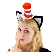 DR SEUSS Cat in the Hat Headband and Ears