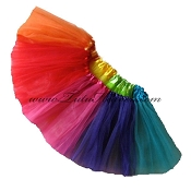 Girls Plus Size RAINBOW Tutu