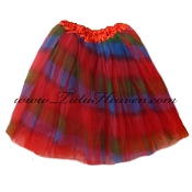 Adult Red Rainbow Tutu