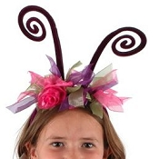 Fairy Antenna Headband Hot Pink