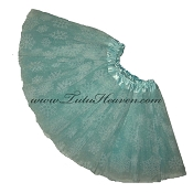 Girls Light Aqua Snowflake Tutu