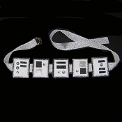 TROOPER Belt White Grey Black