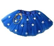 LONG Wonder Women Tutu Royal Blue with White Stars