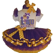 Cheerleader Tutu Set Louisiana