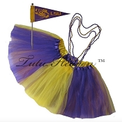 Girls Plus Size Team Spirit Tutu Set LOUISIANA