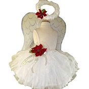Christmas Angel Tutu Set with Wings & Halo