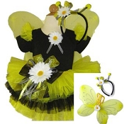 Bumble Bee Tutu Set with WIngs and Top