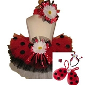 Ladybug Daisy Tutu Set with WIngs