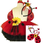 Ladybug Sunflower Tutu Set with WIngs