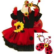 Ladybug Sunflower Tutu Set with WIngs and Top