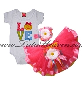Easter Tutu Set BABY CHICK LOVE