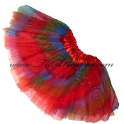 Girls Red Rainbow Tutu