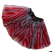 Girls Zebra Red Tutu