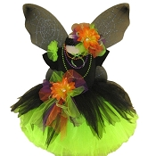 Gothic Spider Fairy Tutu Set Black Lime with Top