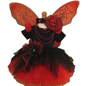 Gothic Spider Fairy Tutu Set Black Red with Top