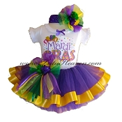Mardi Gras Infant Party Tutu Set