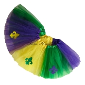 Mardi Gras Tutu Fleur de Lis Multi. INFANT to 6X