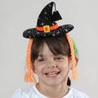 Mini Witches Headband with Pigtails
