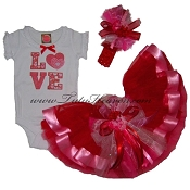 Valentines Day Infant Party Tutu Set LOVE
