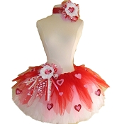 Queen of Hearts Red Tutu Set