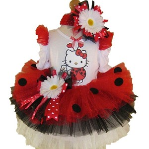 Hello Kitty Ladybug Tutu Set