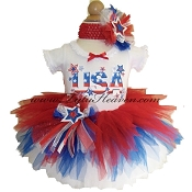 4th of July Sparkler Tutu & Top Set USA
