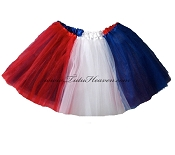 LONG 4th of July American Flag Tutu