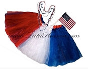 SHORT 4th of July American Flag Tutu Set