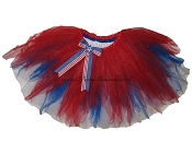 LONG 4th of July Shredded Tutu