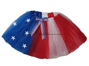LONG 4th of July Stars and Stripes Tutu