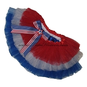 SHORT Tiered July 4th Tutu with Bow