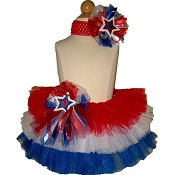 4th of July Tiered Tutu Set