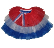 LONG 4th of July Tiered Tutu