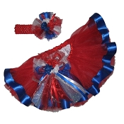4th of July Royal Ribbon Tutu Set