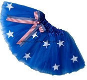 SHORT Royal Blue STARS Tutu BOW