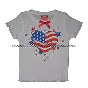 4th of July Toddler Tee AMERICAN HEART