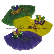 Mardi Gras Tutu Girls Party Pak