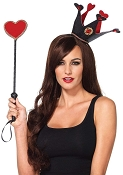 Queen of Hearts Crown and Scepter Set