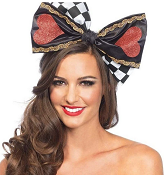 Queen of Hearts Jumbo Bow Headband