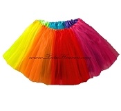 LONG Adult to Plus Size RAINBOW Tutu