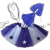 LONG ALL STAR Cheerleader Tutu Set White Purple