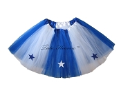 LONG ALLSTAR Tutu White Royal Blue