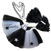 SHORT ALL STAR Cheerleader Tutu Set White Black