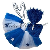 SHORT ALL STAR Cheerleader Tutu Set White Royal Blue