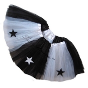 SHORT ALLSTAR Tutu Black White