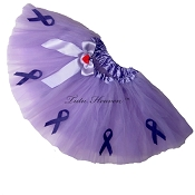 SHORT Relay for Life Lavender Tutu Solid with Bow