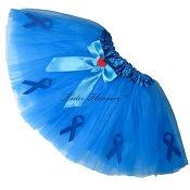 NEON BLUE Awareness Tutu SHORT